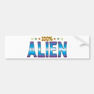 Alien Star Tag v2 Bumper Stickers