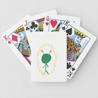 Alien stars bicycle playing cards