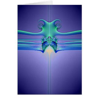 Alien Stingray Greeting Card