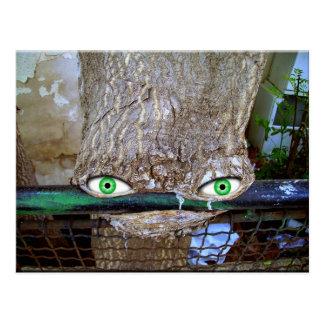 Alien tree postcard