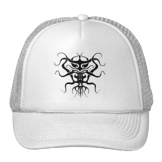 Alien Tribal Tattoo Species 273 black and white Cap