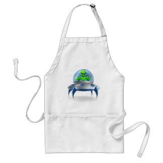 Alien UFO Flying Saucer Standard Apron