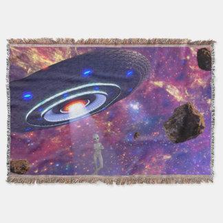 Alien UFO Throw Blanket
