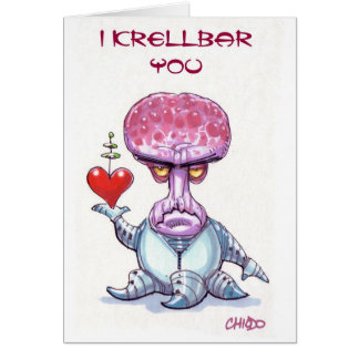 Alien Valentine's Day Card