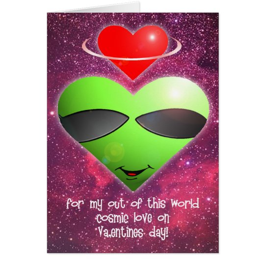 Alien Valentines Day Card