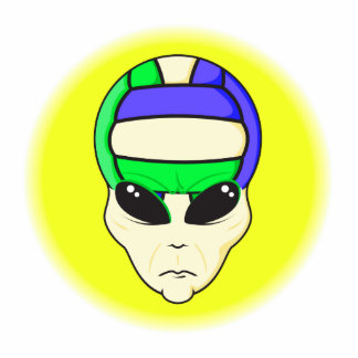 alien volleyball extreme sports design cut outs