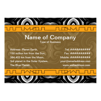 Alien Wall Decor Big Business Card Template
