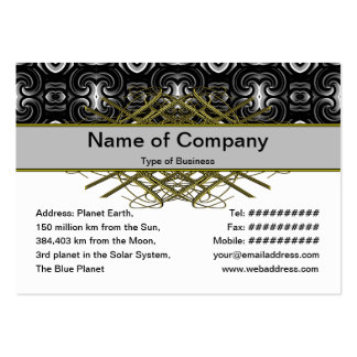 Alien Wall Decor Small Business Card Template