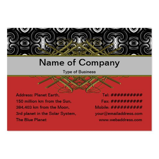 Alien Wall Decor Small Business Card Template