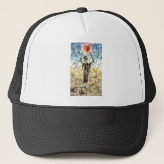 Alien Wall Painting Trucker Hat