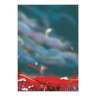 Alien world 9 cm x 13 cm invitation card