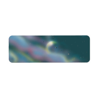 Alien world return address label