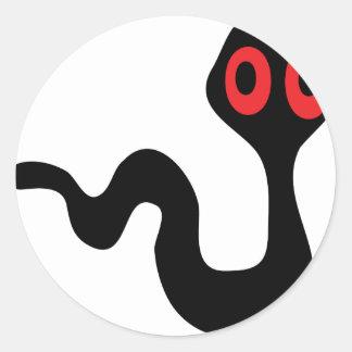 alien worm round sticker