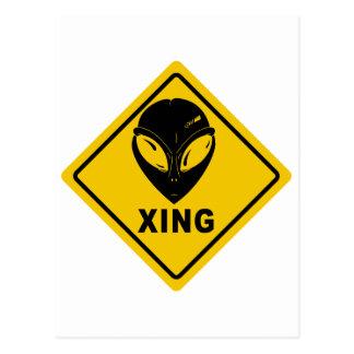 Alien X-ING Postcard