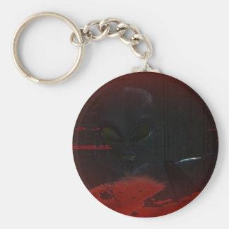 Alien Zombie Attack 01 Keychain