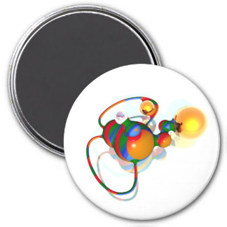 alienobject 7.5 cm round magnet