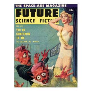 Aliens and Beauty Queen Postcard