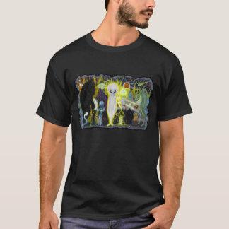 Aliens Black T-shirt in color!