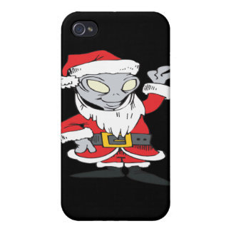 Aliens Celebrate Christmas Too iPhone 4 Cases