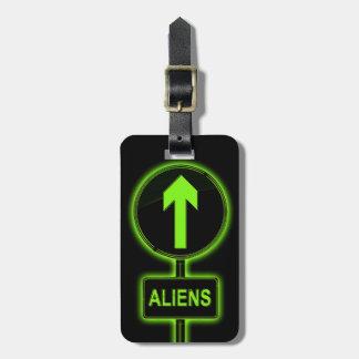 Aliens concept. bag tag