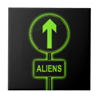 Aliens concept. ceramic tile
