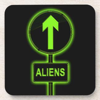 Aliens concept. coaster