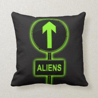 Aliens concept. cushion