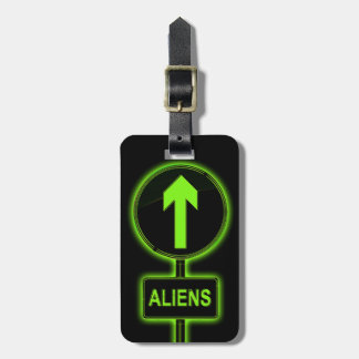 Aliens concept. luggage tag