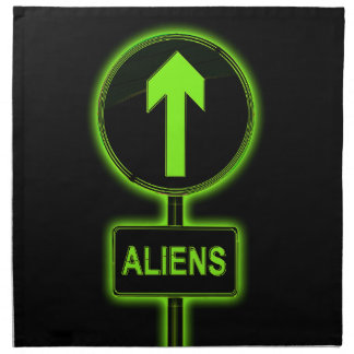 Aliens concept. napkin