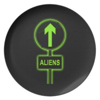Aliens concept. plate