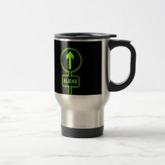 Aliens concept. travel mug