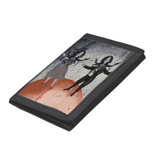 Aliens dance celebration trifold wallets
