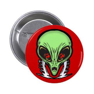 Aliens Face Of Terror 6 Cm Round Badge