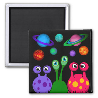 Aliens From Outer Space Square Magnet