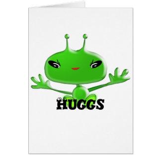 Aliens Huggs Greeting Card
