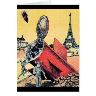 Aliens Invade Paris Cards