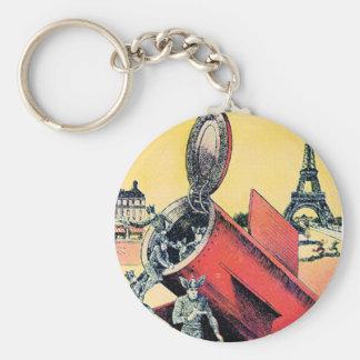 Aliens Invade Paris Keychains