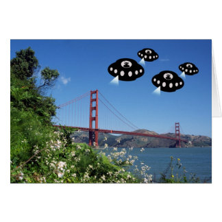 Aliens invade San Francisco Greeting Cards