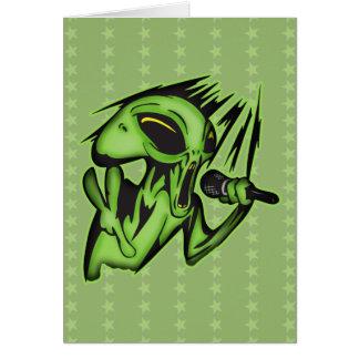 Aliens Invade The Karaoke Bar Greeting Card
