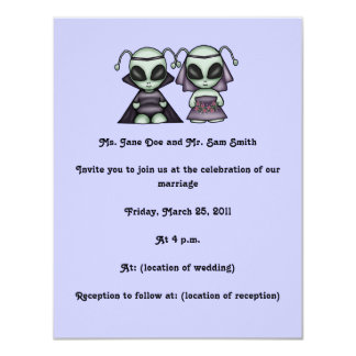 Aliens Wedding Invitations