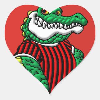 Aligator Heart Sticker