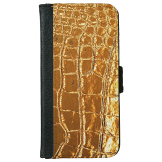Aligator Leather Look iPhone 6 Wallet Case