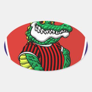 Aligator Oval Sticker