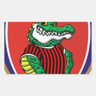 Aligator Rectangular Sticker