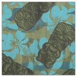 Ali'i Refuge Hawaiian Hibiscus Tiki Fabric