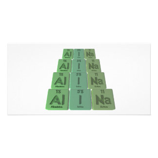 Alina as Aluminium Iodine Sodium Photo Greeting Card