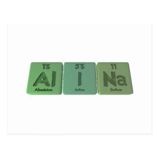 Alina as Aluminium Iodine Sodium Post Card