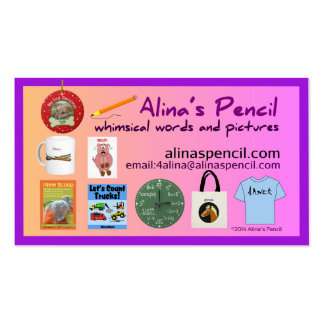 Alina s Pencil Publishing 2014 Business Card Template