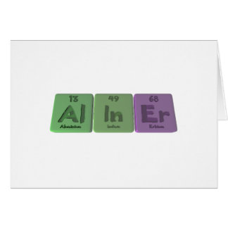Aliner-Al-In-Er-Aluminium-Indium-Erbium Greeting Cards