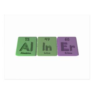 Aliner-Al-In-Er-Aluminium-Indium-Erbium Postcard